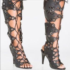 Black gladiator heels 🎊New🎊